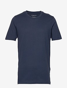 SLHTHEPERFECT MEL SS O-NECK TEE B NOOS - short-sleeved t-shirts - estate blue