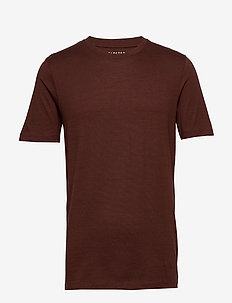 SLHTHEPERFECT MEL SS O-NECK TEE B NOOS - short-sleeved t-shirts - smoked paprika