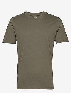 SLHTHEPERFECT SS O-NECK TEE B - short-sleeved t-shirts - beetle