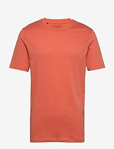 SLHTHEPERFECT SS O-NECK TEE B - short-sleeved t-shirts - coral