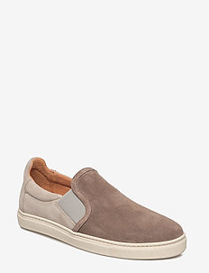 SHNDAVID NEW SUEDE SLIPON - lave sneakers - walnut