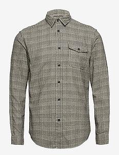 SLHREGVALDEMAR SHIRT LS CHECK W - rutede skjorter - black