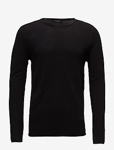 SLHROCKY CREW NECK B NOOS - basic-strickmode - black