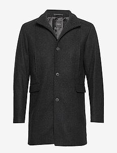 SLHMOSTO WOOL COAT B - villakangastakit - dark grey