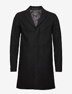 SLHBROVE WOOL COAT B - BLACK