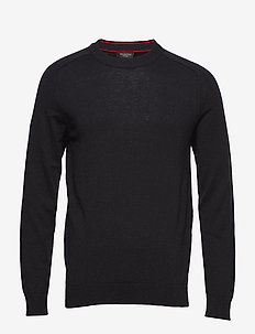 SLHNEWBLADE SILK CREW NECK B - BLACK