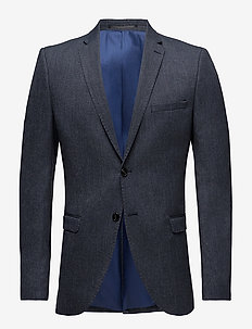 SLHSLIM-MYLOLOGAN NAVY STRUC BLZ B NOOS - single breasted suits - dark navy