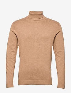 SLHTOWER COT/SILK ROLL NECK B - OTTER