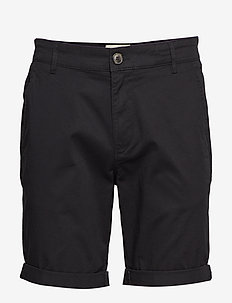 SLHSTRAIGHT-PARIS SHORTS W NOOS - chino's shorts - black