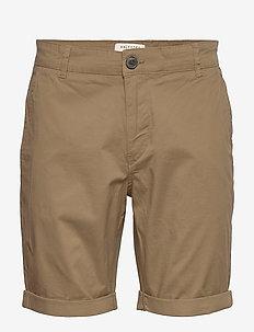 SLHSTRAIGHT-PARIS SHORTS W NOOS - chinos shorts - camel