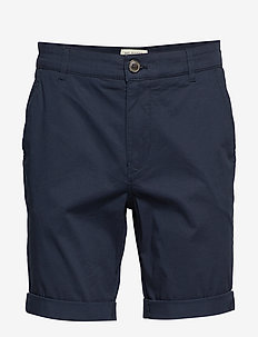SLHSTRAIGHT-PARIS SHORTS W NOOS - chino's shorts - dark sapphire