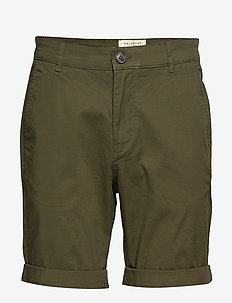 SLHSTRAIGHT-PARIS SHORTS W NOOS - chino's shorts - deep depths