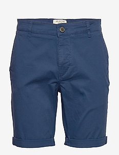 SLHSTRAIGHT-PARIS SHORTS W NOOS - chino's shorts - estate blue