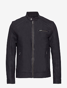 SLH C-01 CLASSIC SUEDE JACKET W - leather jackets - black