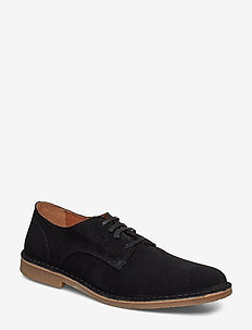 SLHROYCE DERBY LIGHT SUEDE SHOE W - snøresko - black