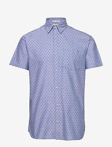 SLHSLIMMATTHEW SHIRT SS AOP W - chemises à manches courtes - light blue