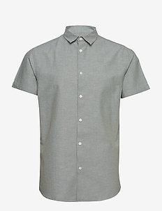 SLHSLIMLINEN SHIRT SS CLASSIC B - chemises à manches courtes - sea spray