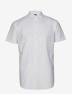 SLHSLIMLINEN SHIRT SS CLASSIC B - chemises à manches courtes - white