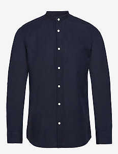 SLHSLIMLINEN SHIRT LS CHINA B - basic shirts - sky captain