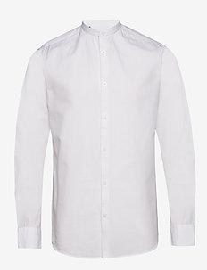 SLHSLIMLINEN SHIRT LS CHINA B - basic shirts - white