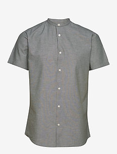 SLHSLIMLINEN SHIRT SS CHINA B - peruspaitoja - sea spray