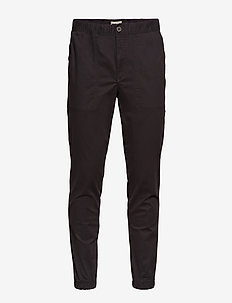 SLHSLIMTAPERED-MATEO PANTS W - BLACK