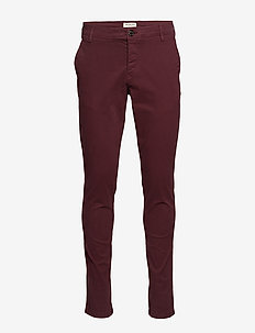 SLHSKINNY-LUCA PANTS W NOOS - chinos - tawny port