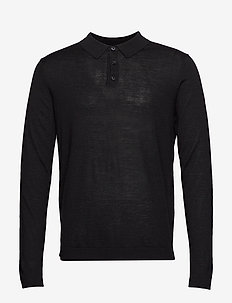 SLHTHOM MERINO POLO NECK B - BLACK
