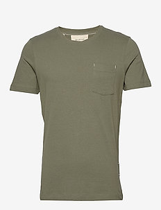 SLHJARED SS O-NECK TEE W - basic t-shirts - beetle