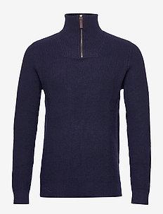 SLHORLA ZIP HIGH NECK W - MARITIME BLUE