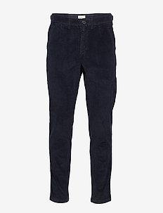 SLHSLIMTAPERED-ADAM CORD PANTS W - spodnie na co dzień - sky captain