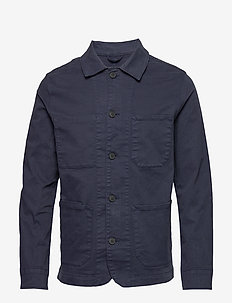 SLHJACKSON COTTON JACKET W - basic overhemden - black iris
