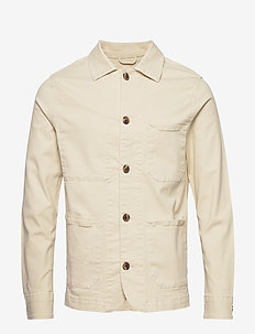 SLHJACKSON COTTON JACKET W - BONE WHITE