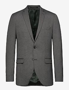 SLHSLIM-MYLOLOGAN DK GR STRUC BLZ B NOOS - single breasted suits - dark grey melange