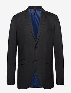 SLHSLIM-MYLOSTATE FLEX BLACK BLZ B NOOS - single breasted suits - black