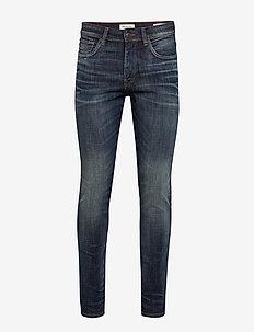 SLHSLIM-LEON 6164 D. BLUE ST JNS W NOOS - slim jeans - dark blue denim