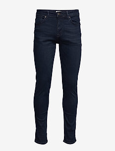 SLHSLIM-LEON 6155 BB SUPER ST JNS J NOOS - slim jeans - blue black denim