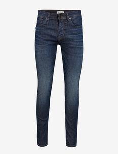 SLHSLIM-LEON 6156 D.BLU SU-ST JNS W NOOS - slim jeans - dark blue denim