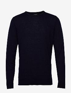 SLHTOWER NEW MERINO CREW NECK B NOOS - rund hals - navy blazer