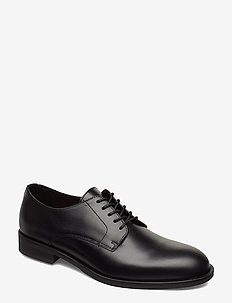 SLHLOUIS LEATHER DERBY SHOE B NOOS - snøresko - black