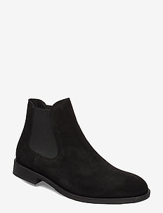 SLHLOUIS SUEDE CHELSEA BOOT B NOOS - chelsea boots - black