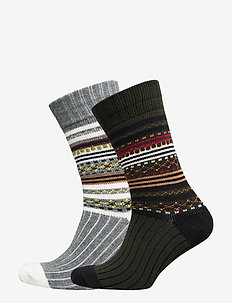 SLH2-PACK HEAVY NORDIC SOCK W - regular socks - rosin