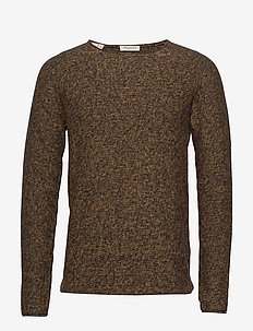 SLHEMIL MULTI CREW NECK W - basic knitwear - black ink