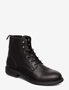SLHTERREL LEATHER BOOT W - BLACK
