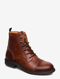 SLHTERREL LEATHER BOOT W - COGNAC