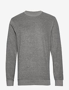 SLHCLEVE CREW NECK SWEAT B - basic sweatshirts - light grey melange
