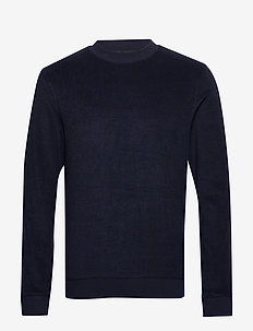 SLHCLEVE CREW NECK SWEAT B - basic sweatshirts - sky captain