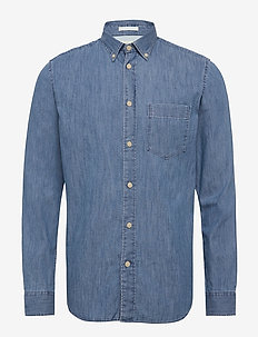 SLHREGPERFECT-LARSON SHIRT LS W - peruspaitoja - light blue denim