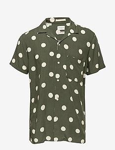 SLHREGDOT SHIRT SS AOP W - chemises à manches courtes - beetle