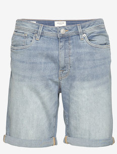 SLHALEX 330 LBLUE SU-ST DNM SHORT W NOOS - farkkushortsit - light blue denim